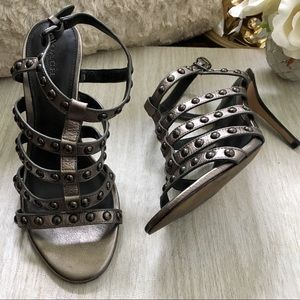 Coach Rose Metallic Tumbled Sandals